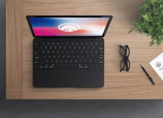 Free Macbook Modern Mockup