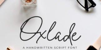 Free Oxlade Handwritten Script Font
