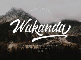 Free Wakanda Script Font