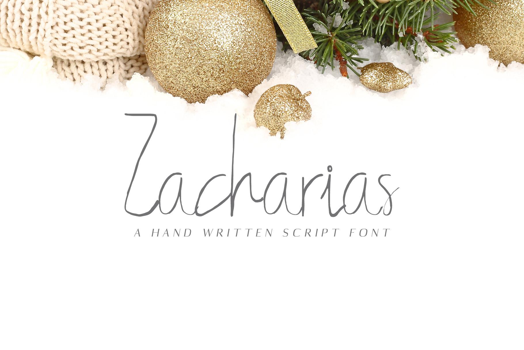 Free Zacharias Handwritten Script Font