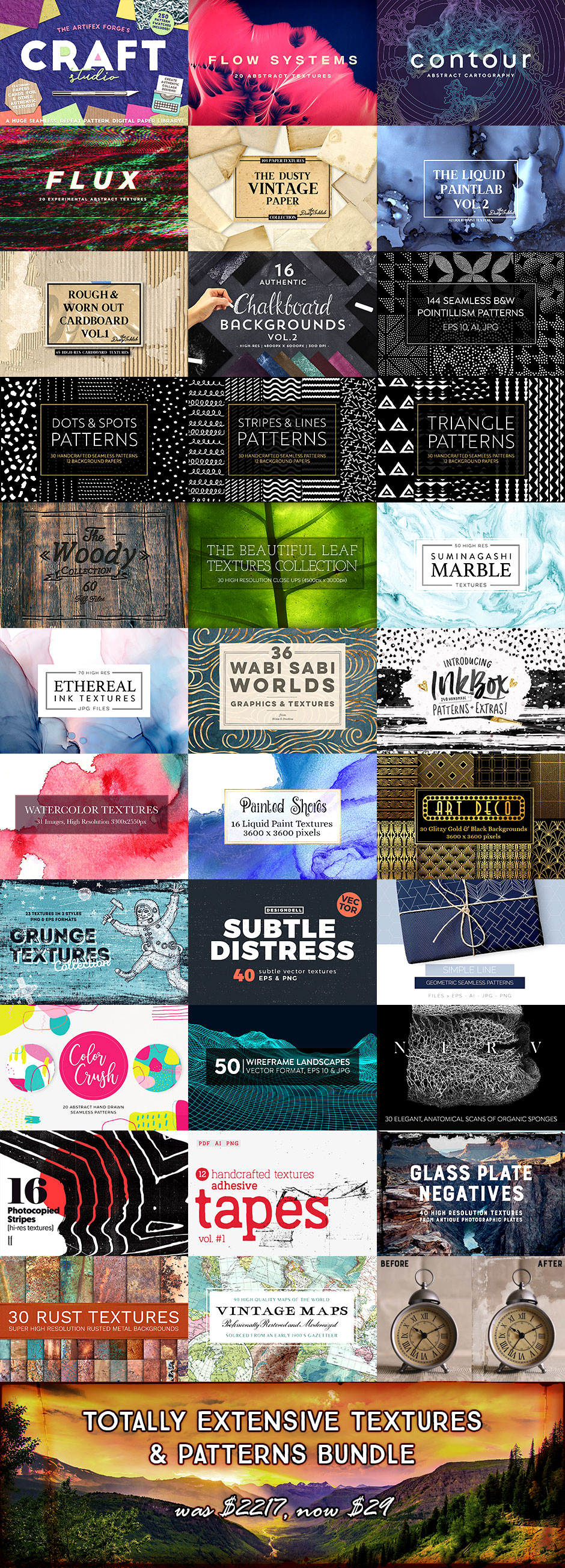 These Texture & Pattern Resources