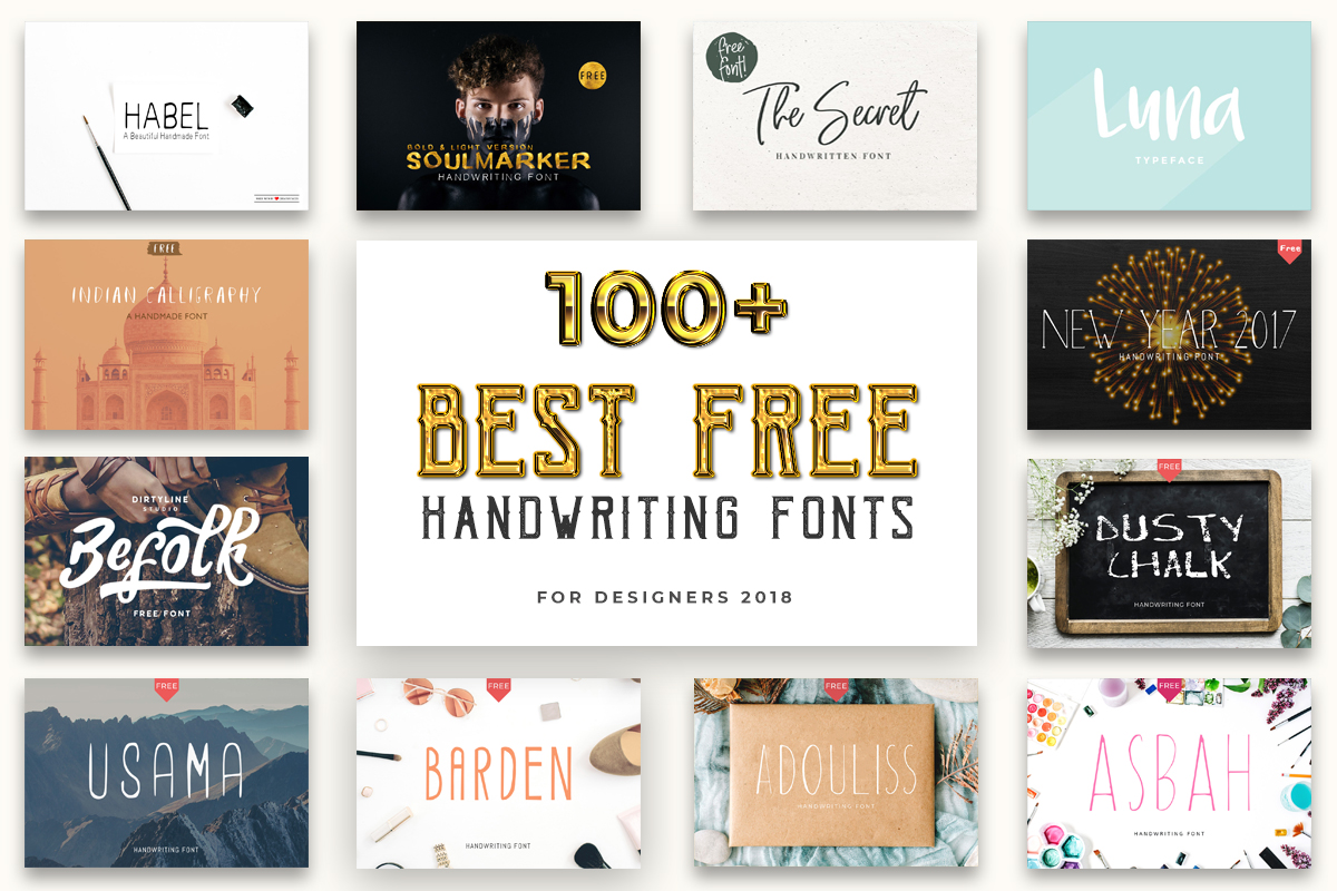 100 Best Free Handwriting Fonts For Designers 2019 - Creativetacos