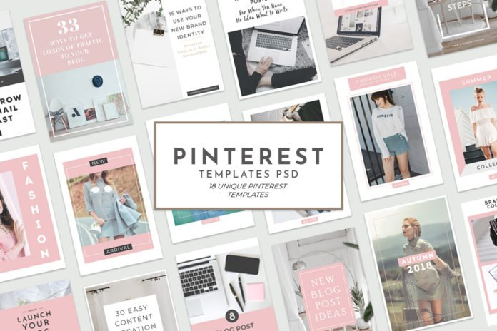 18 Free Unique Pinterest Graphic Templates for Bloggers