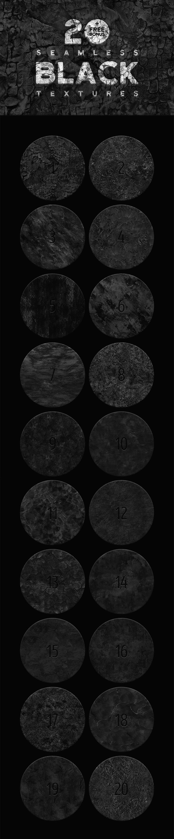 #48 #Free Seamless Black#Textures are coming from TimXez. This pack contains 20 seamless coal textures that can be useful for background images. It is perfect for any project like branding, greeting cards, halloween poster, websites, printable, crafts, fashion and so much more.