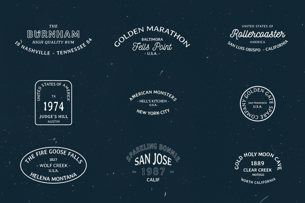 20 Free Vintage Badges Labels American Style