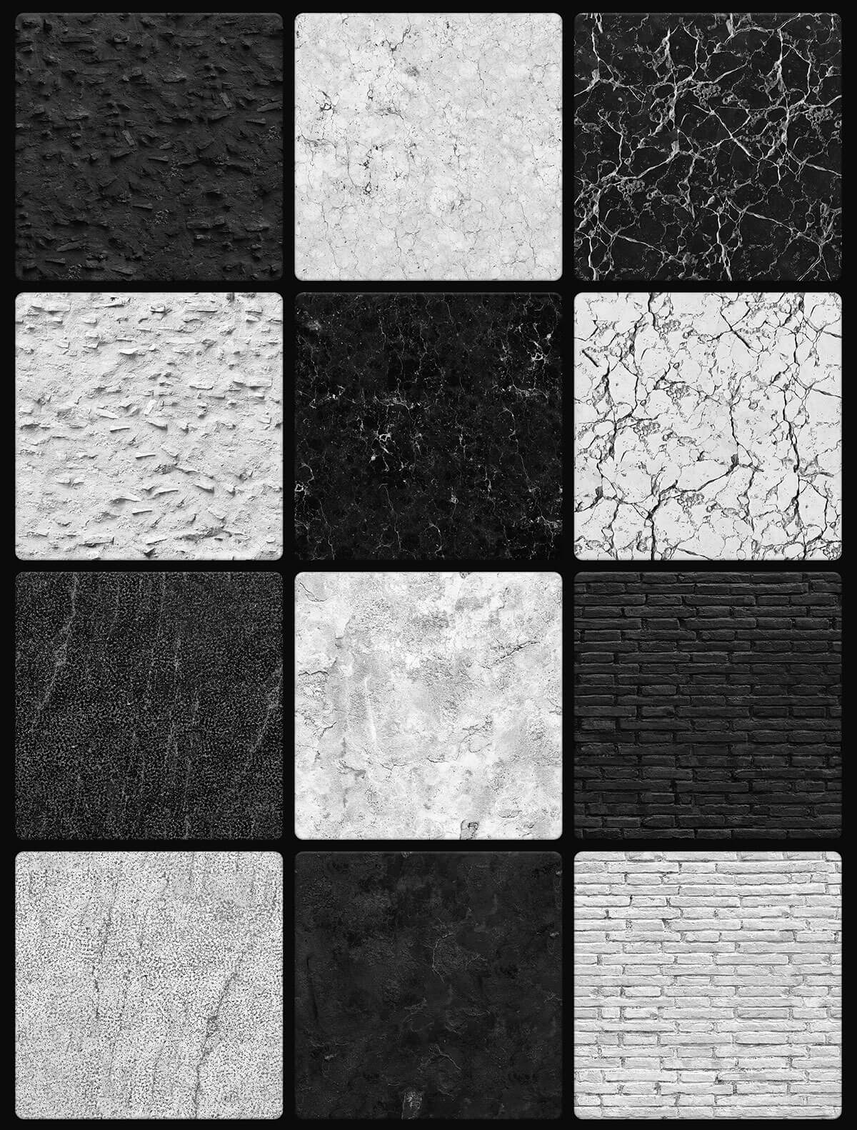 48 Free BW Seamless Textures