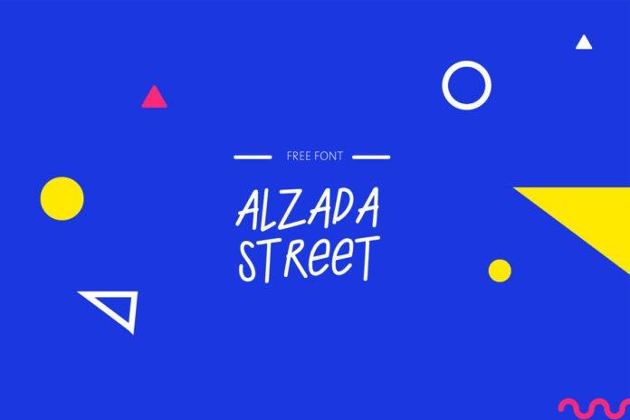 Free Alzada Street Handwriting Font
