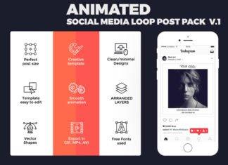 Free Animated Social Media Loop Post Pack