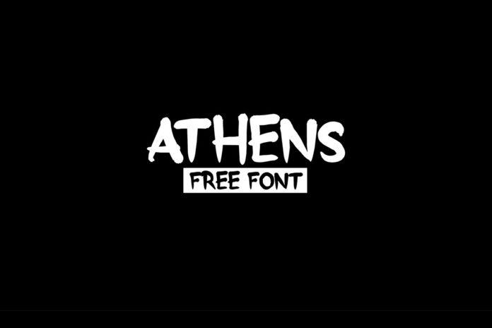 Free Athens Brush Font