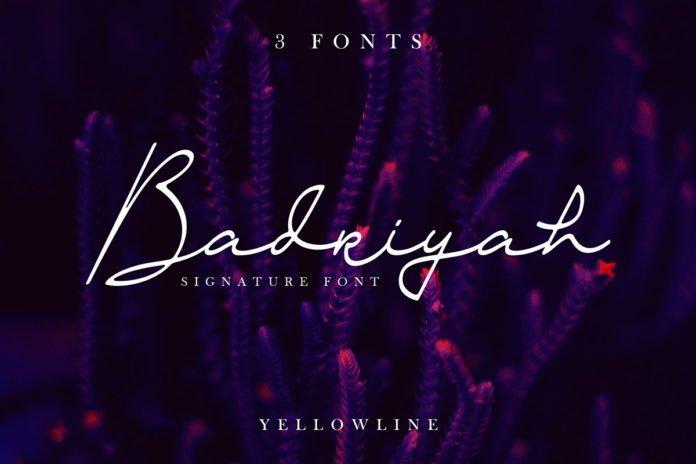 Free Badriyah Script Font