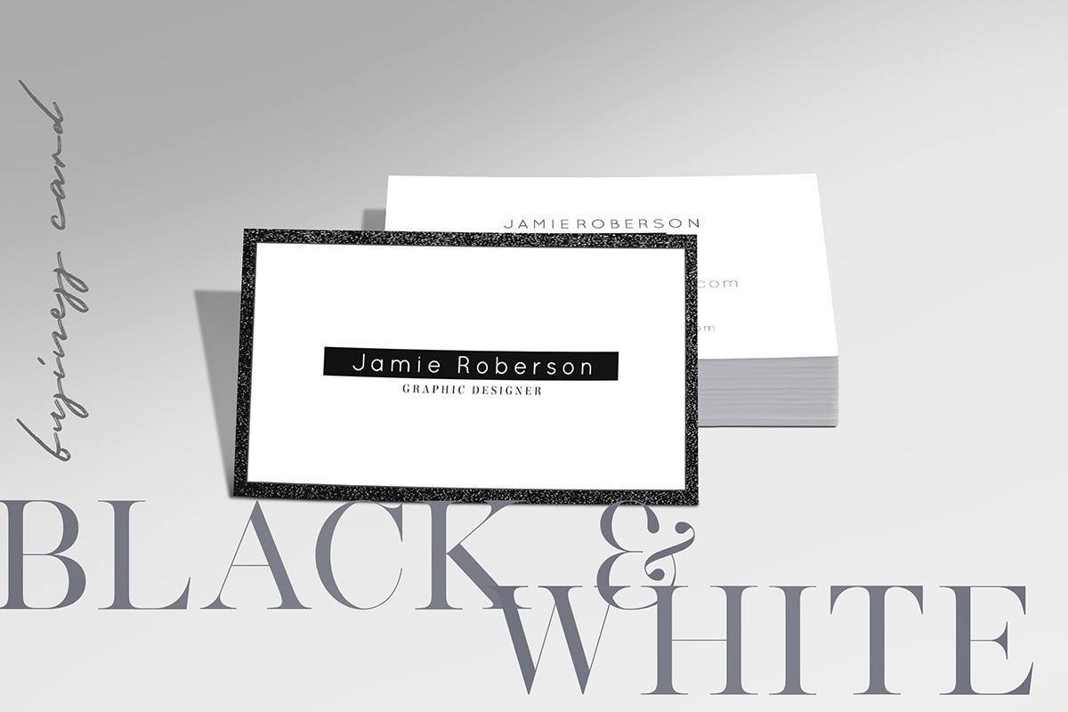 Free black and white business card psd template creativetacos free black and white business card psd template reheart Images