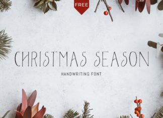 Free Christmas Season Font