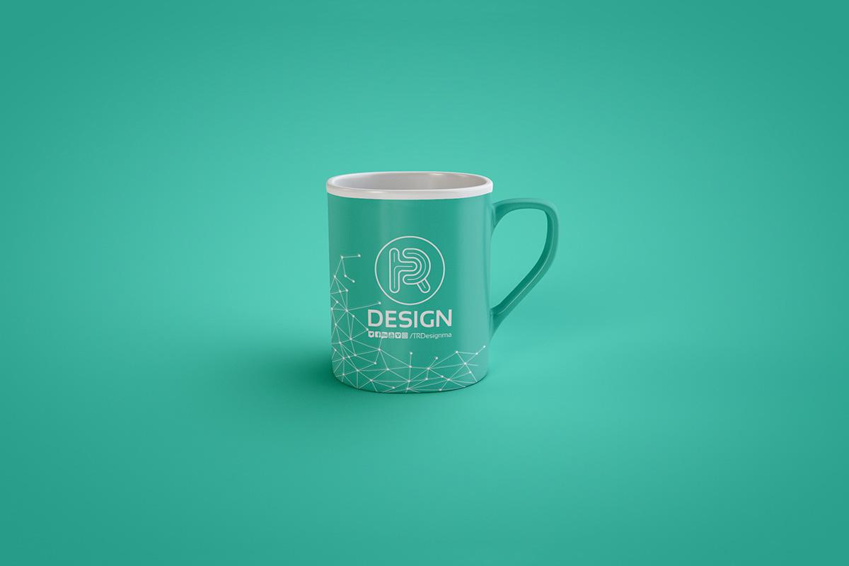 Free Classic Coffee Mug PSD Mockup