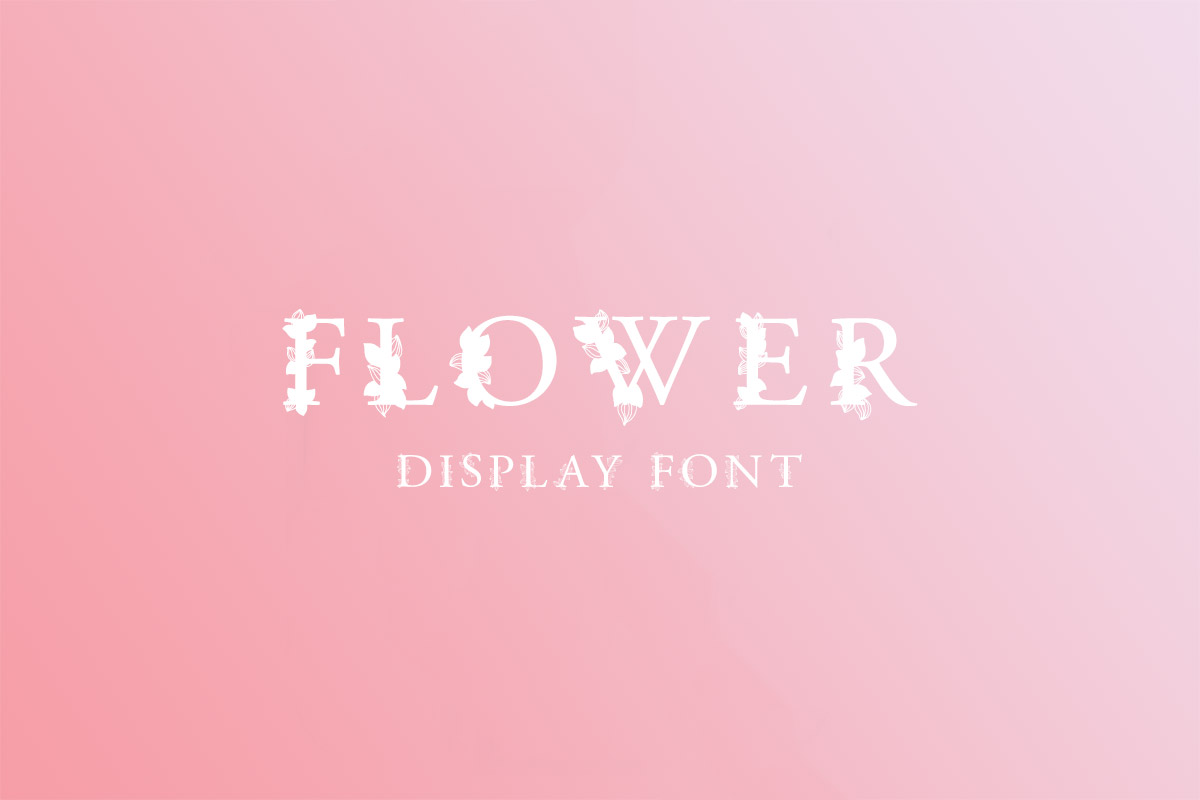 Download Free Flower Display Font Family Pack ~ Creativetacos