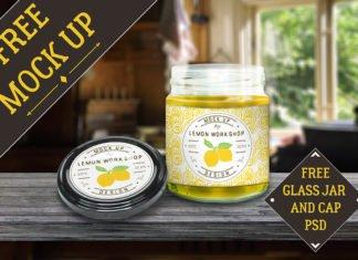 Free Glass Jar Mockup