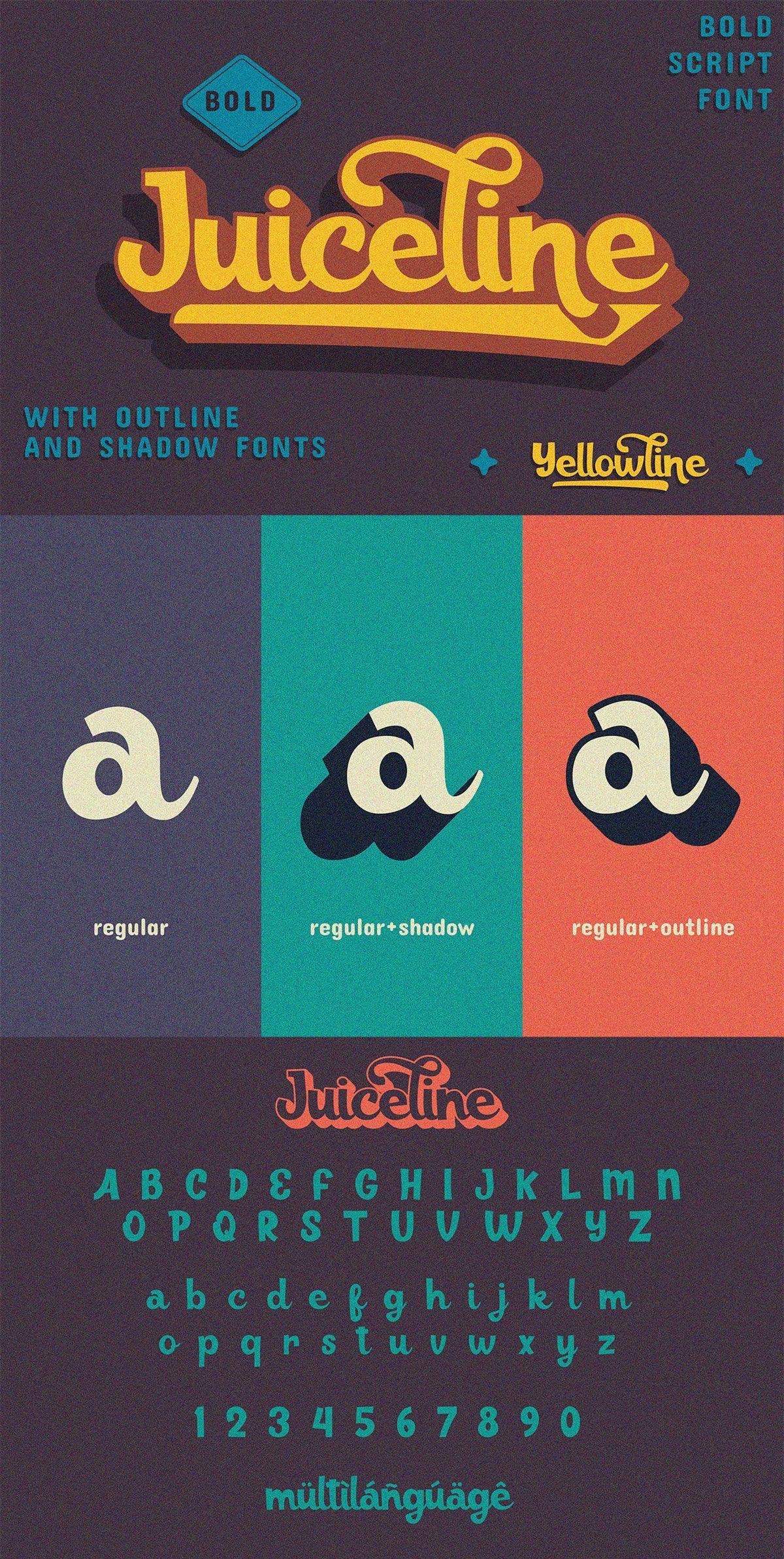 Free Juiceline Bold Script Font