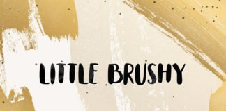 Free Little Brushy Hand Painted Font