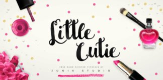 Free Little Cutie Hand Painted Script Font