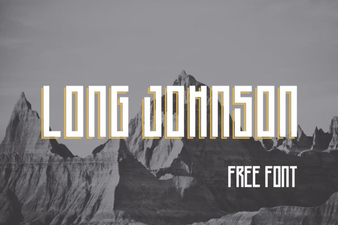 Free Long Johnson Display Font