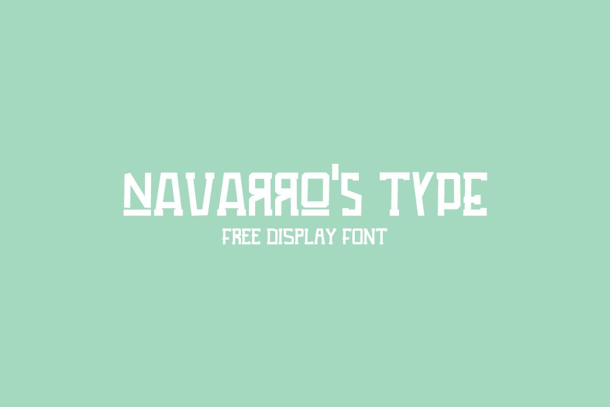 Free Navarros Type Display Font