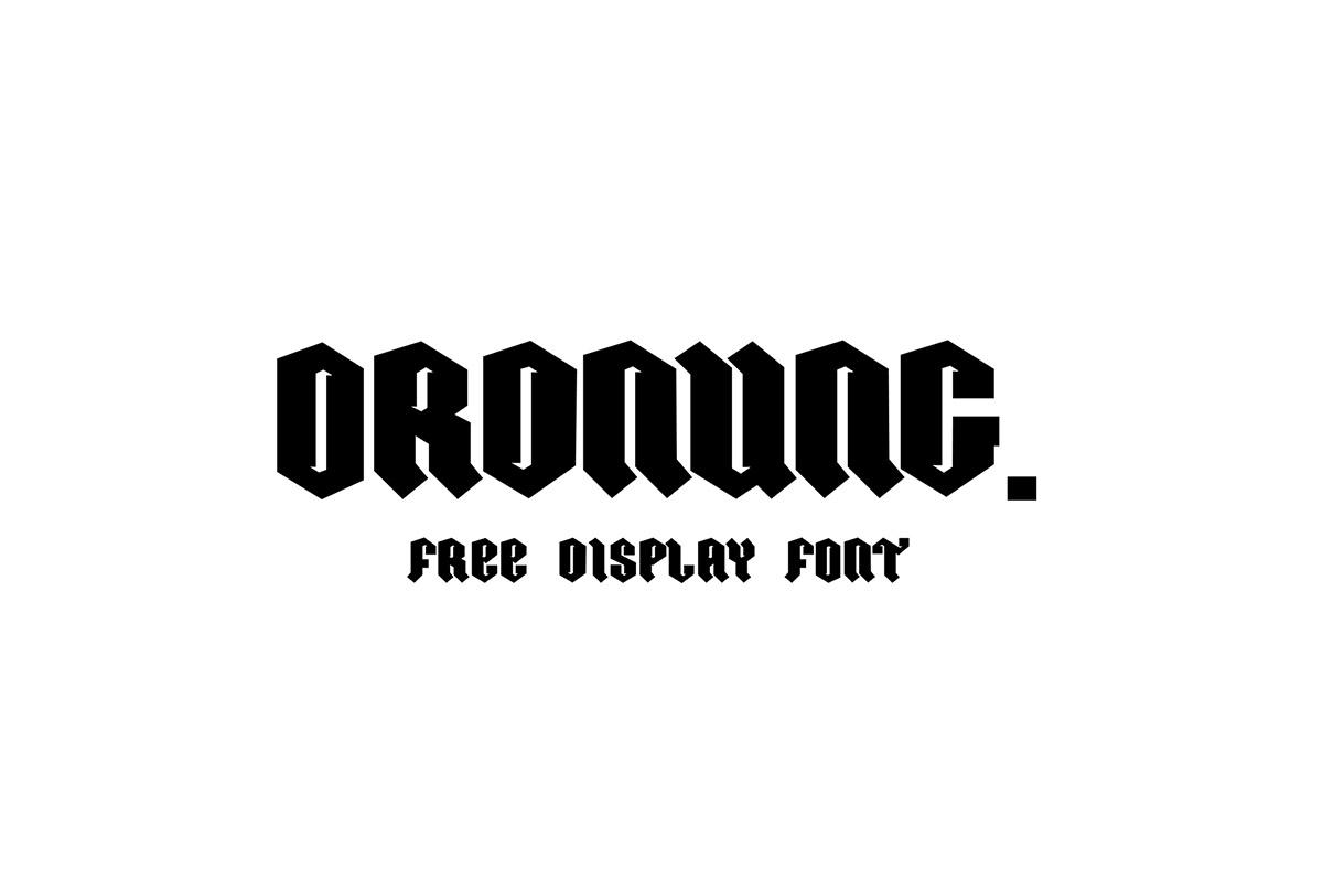 Free Ordnung Display Font