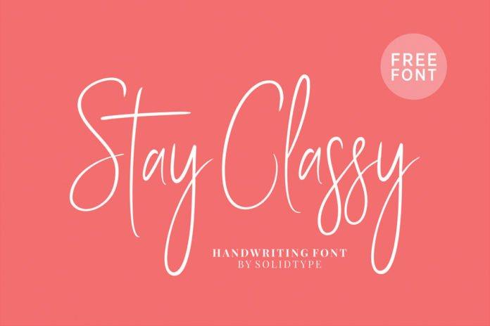 Free Stay Classy Handwritten Script Font
