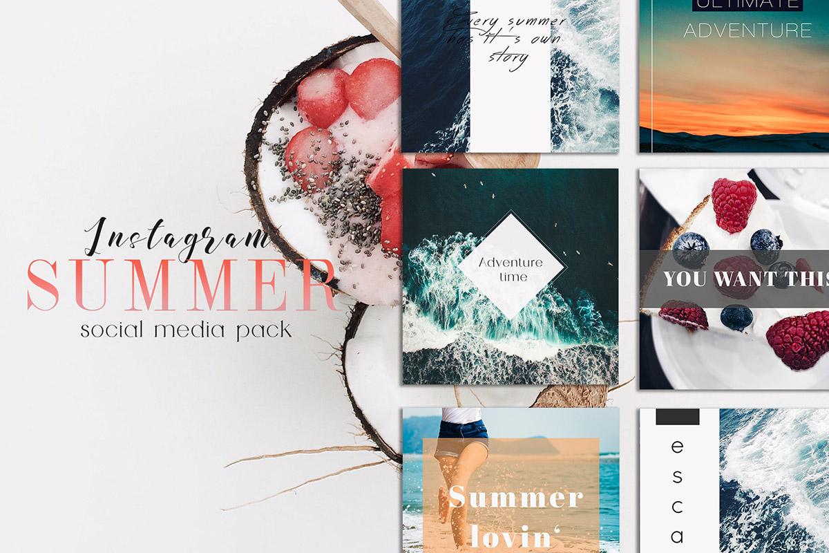 Free Sweet Summer Instagram Social Media Pack