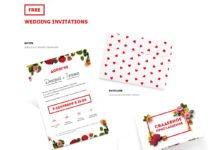 Free Wedding Invitations PSD Template