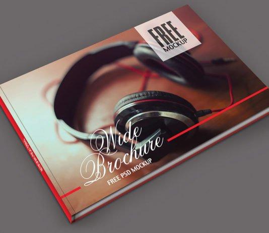Free Wide Brochure Mockup PSD