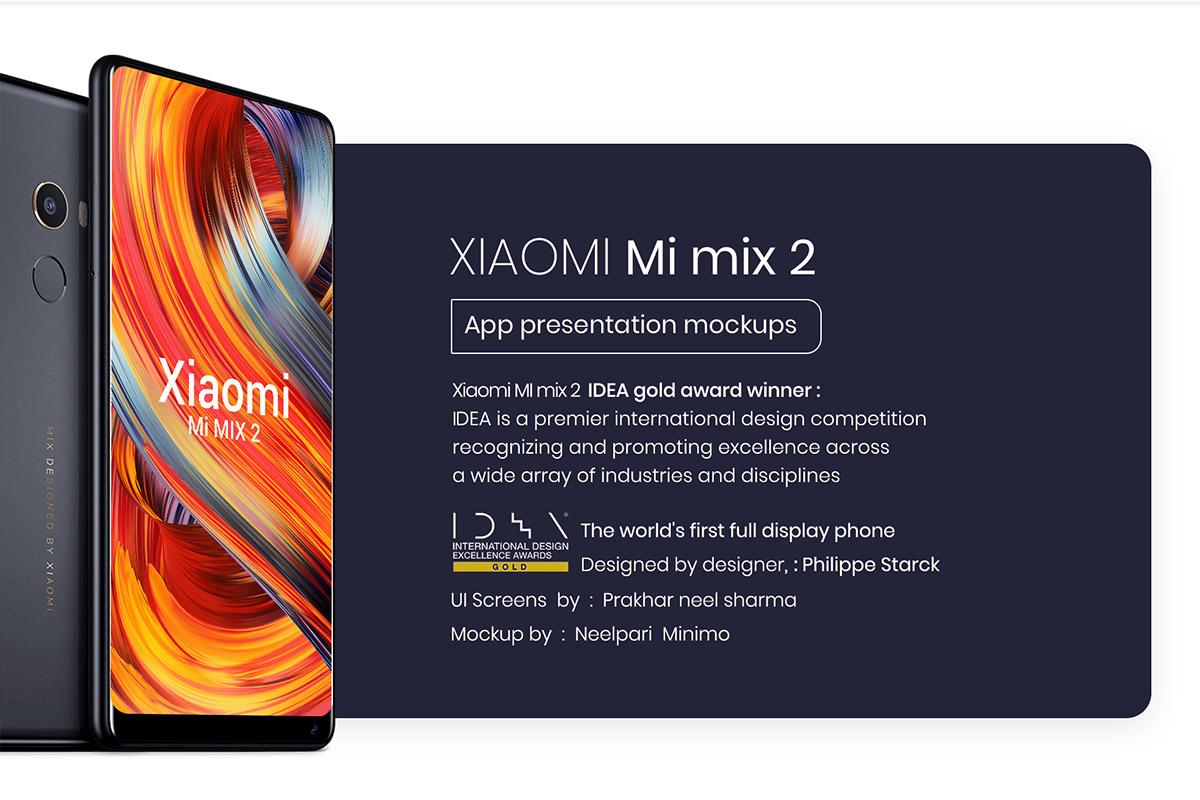 Free Xiaomi Mi Mix 2 Mockups