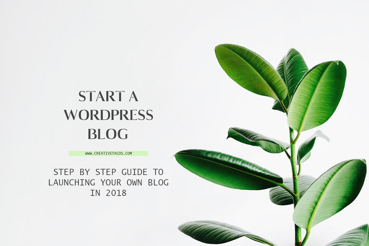 Step By Step Guide To launching your own Blog in 2018