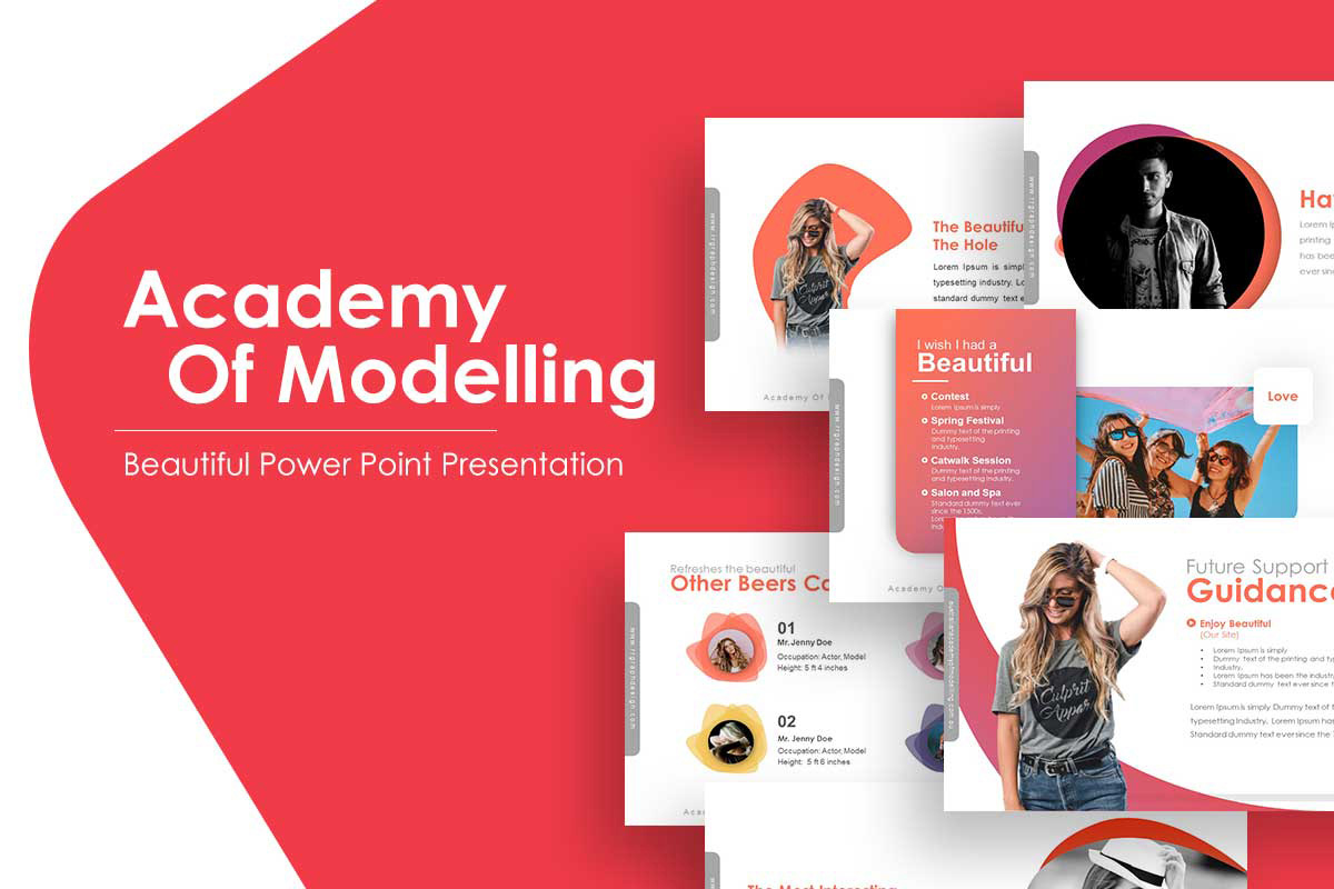Academy ModellingPowerpoint Template