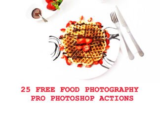 25 Free Food Photography Pro Photoshop Actions
