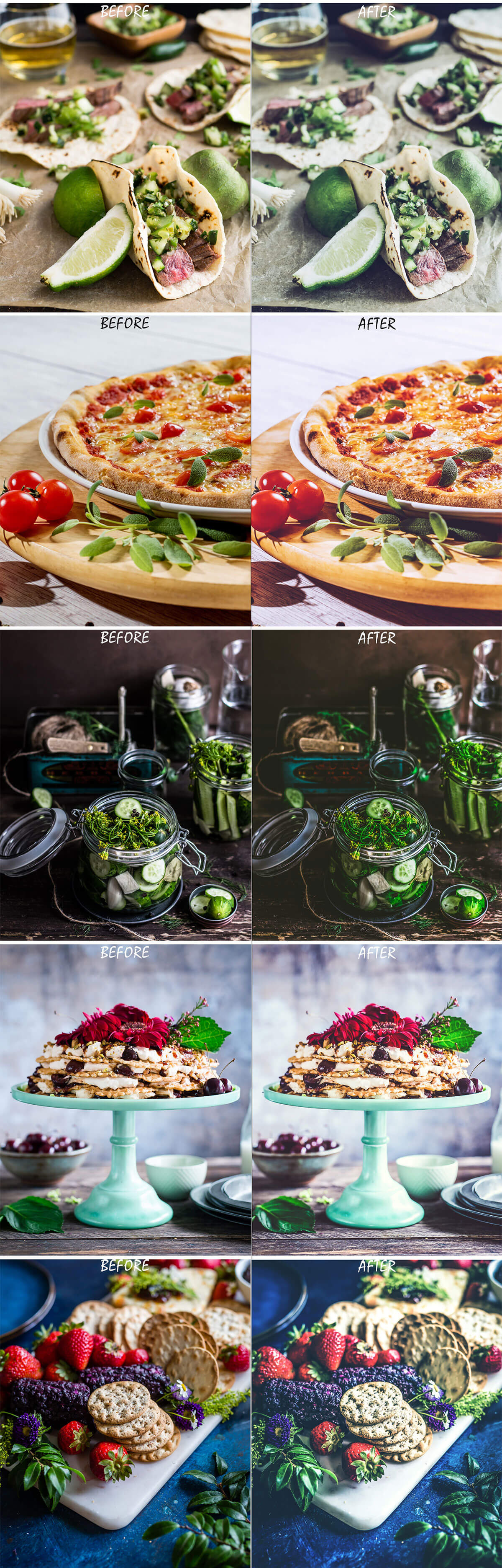 Free Food Photography Pro Photoshop Actions