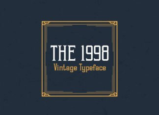 Free 1998 Vintage Display Font