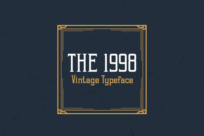 Free 1998 Vintage Display Font