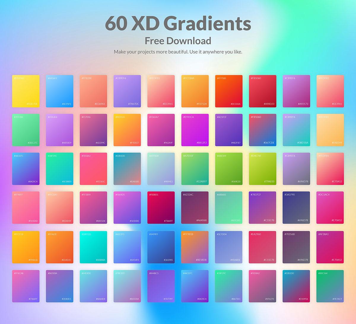 Free 60 XD Gradients