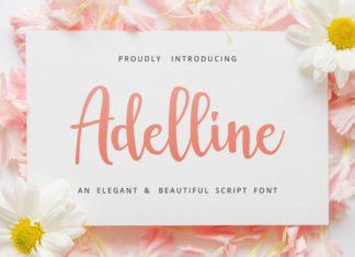 Free Adelline Beautiful Script Font