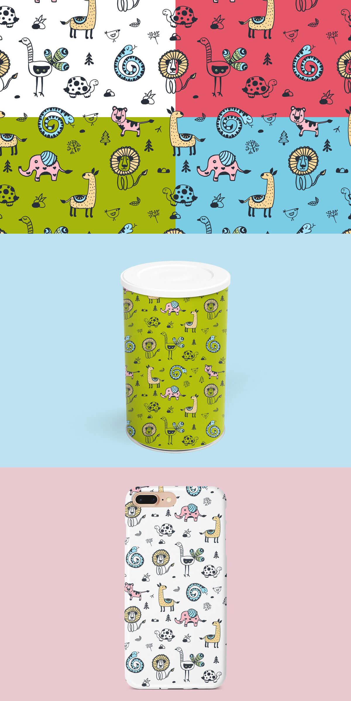 Free Animals Illustration Vector Pattern