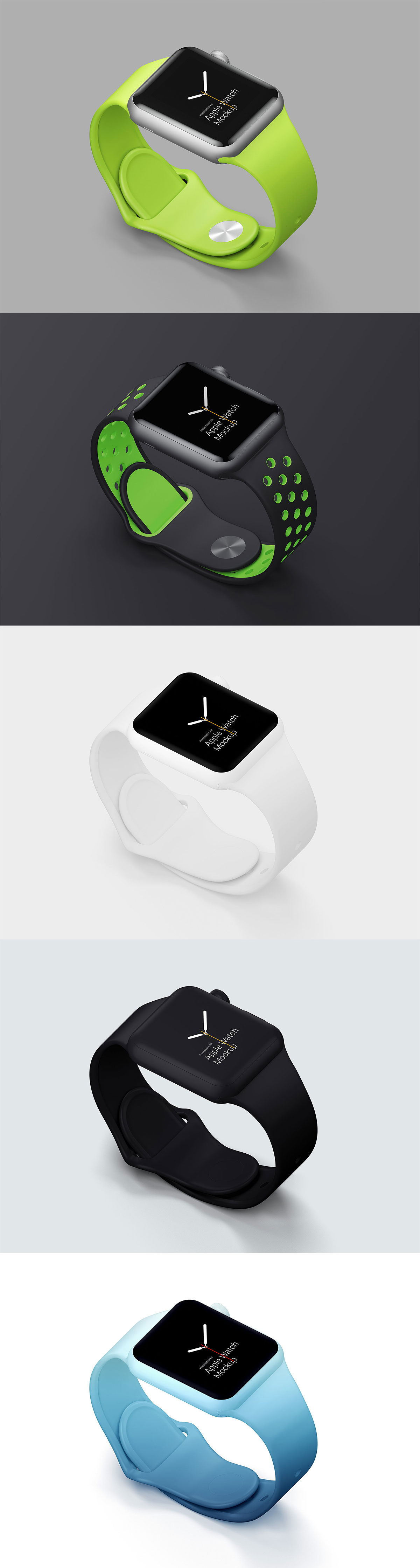 Free Apple Watch Mockups