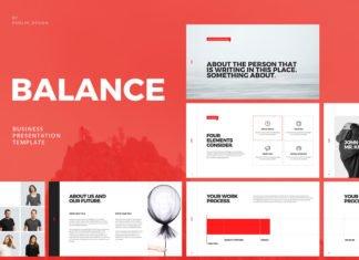 Free Balance Minimal Presentation Template