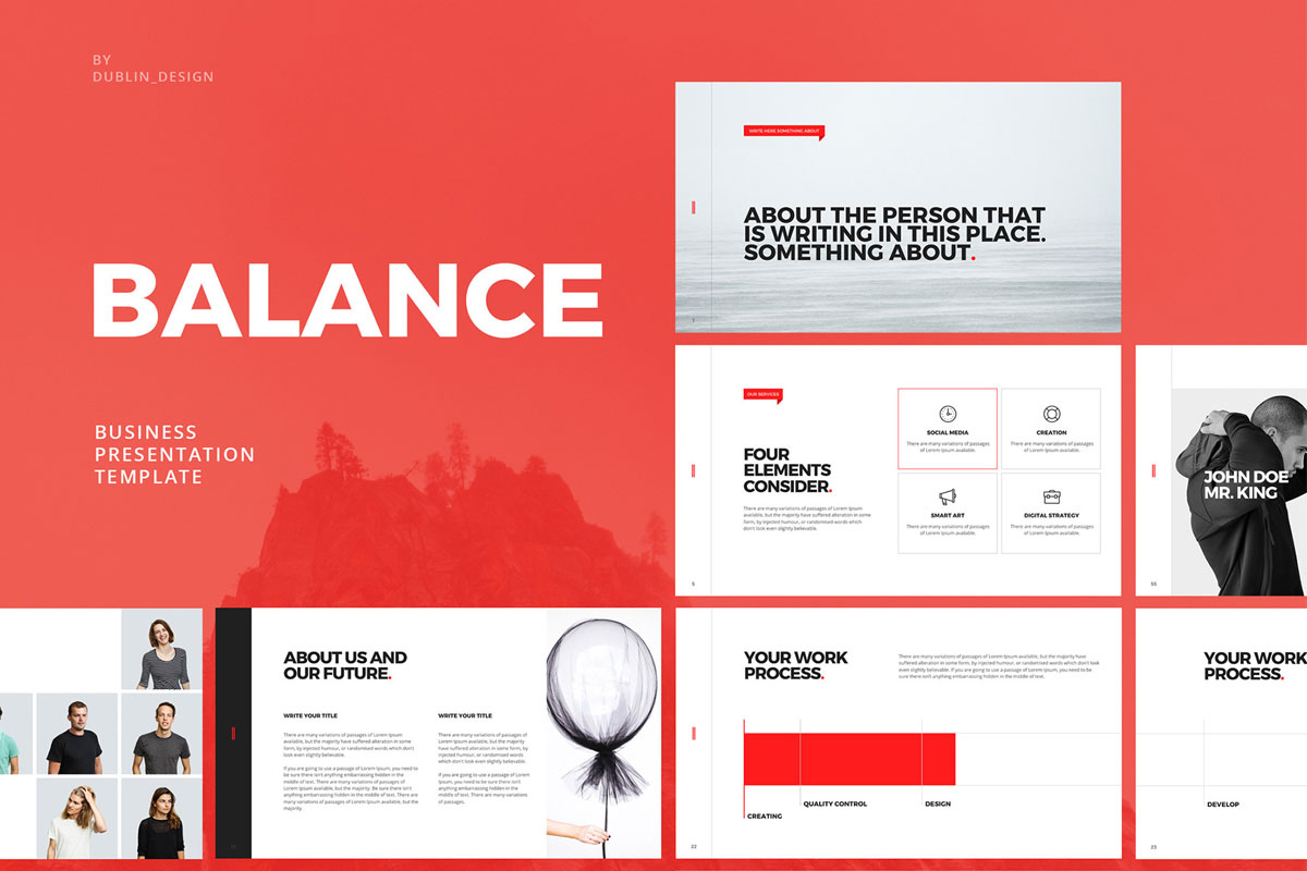 Free balance minimal presentation template creativetacos for Minimalist powerpoint template free 2