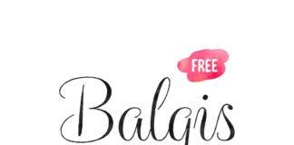 Free Balqis Calligraphy Font