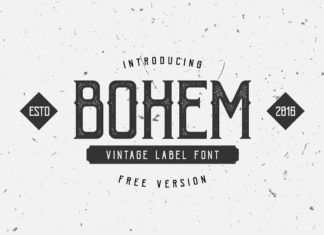 Free Bohem Display Font