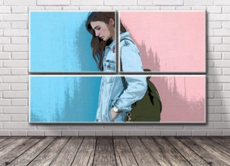 Free Brick Wall Art Mockup
