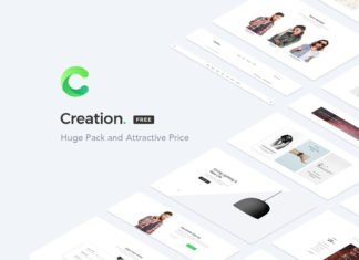 Free Creation Web UI Kit Sample