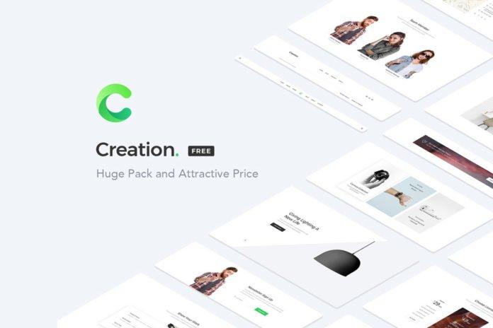 Free Creation Web UI Kit Sample