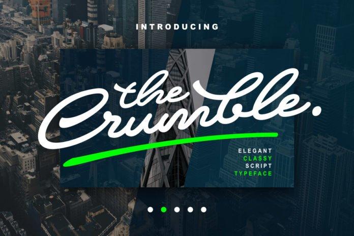 Free Crumble Script Font