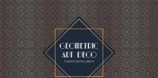 Free Geometric Art Deco Seamless Pattern