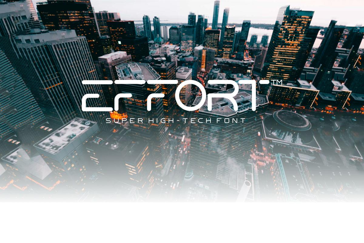Free Effort High Tech Sans Serif Font